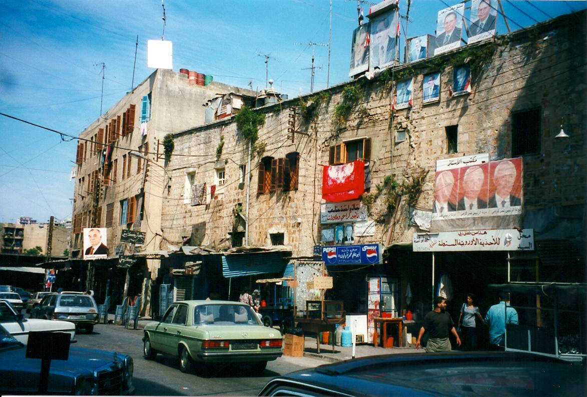 Battle-scarred buildings, Beirut, Lebanon