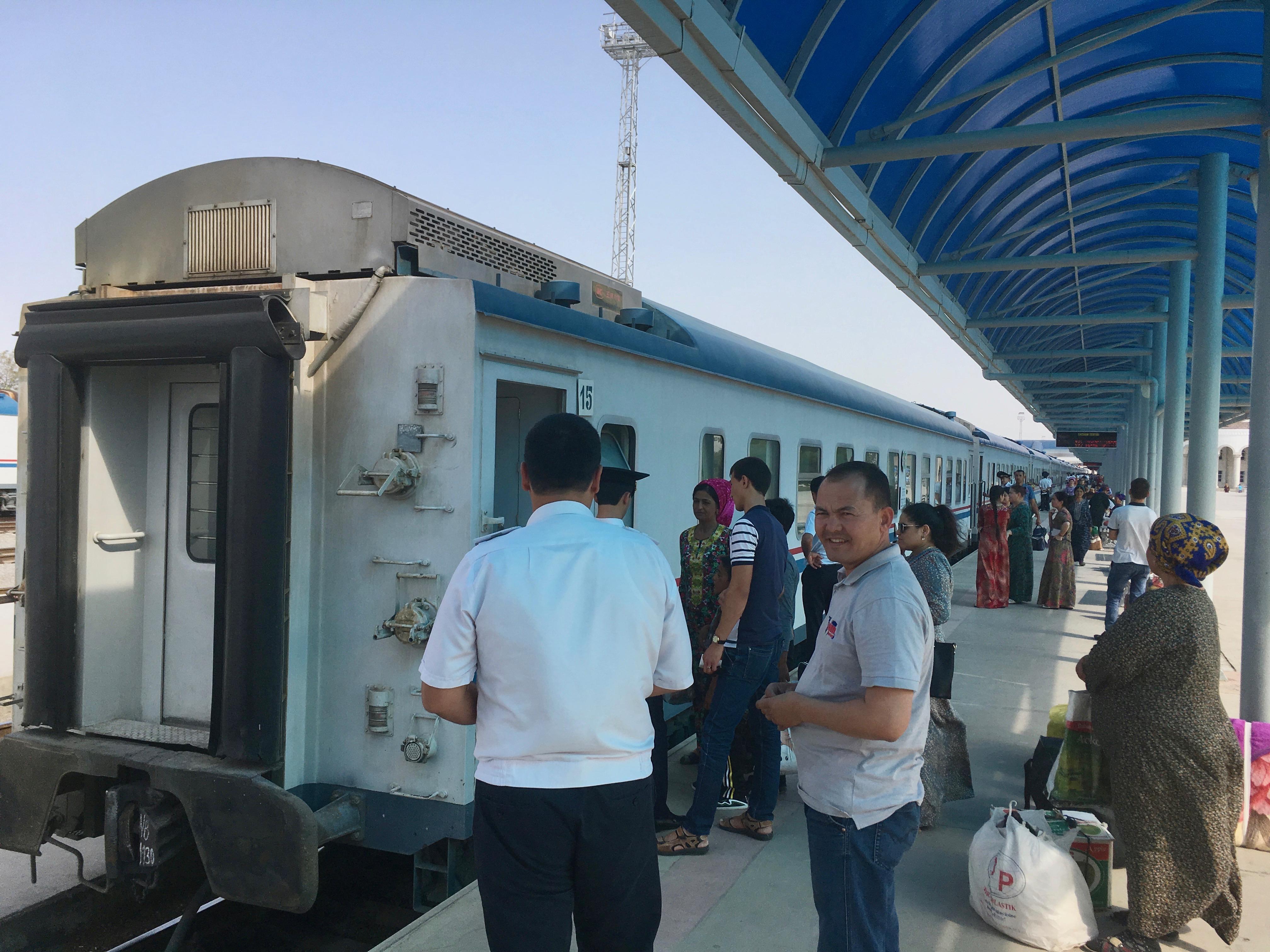 Boarding Ashgabat Railway Station, Ashgabat