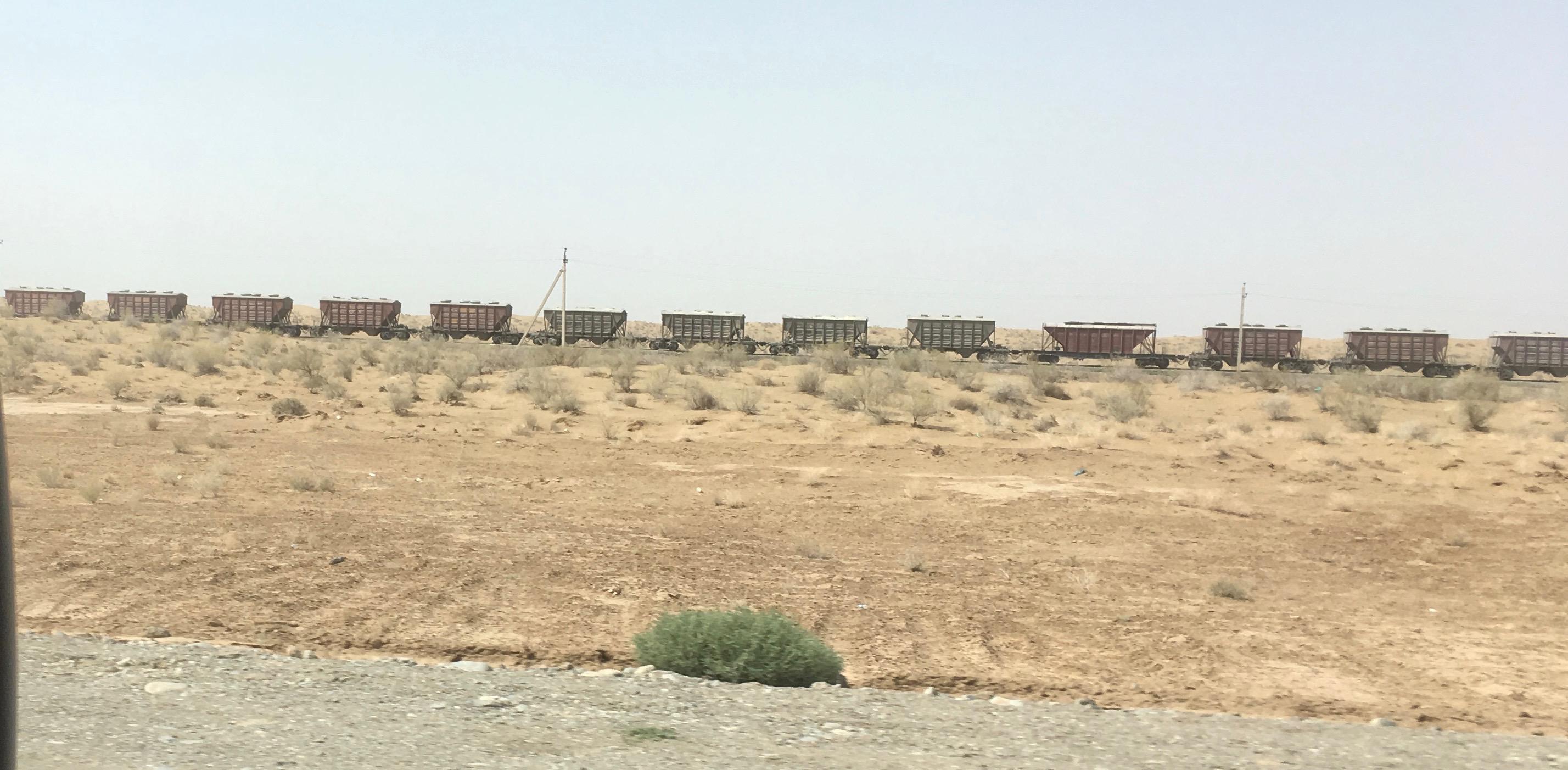 Cargo Trucks, Karakum Desert, Turkmenistan