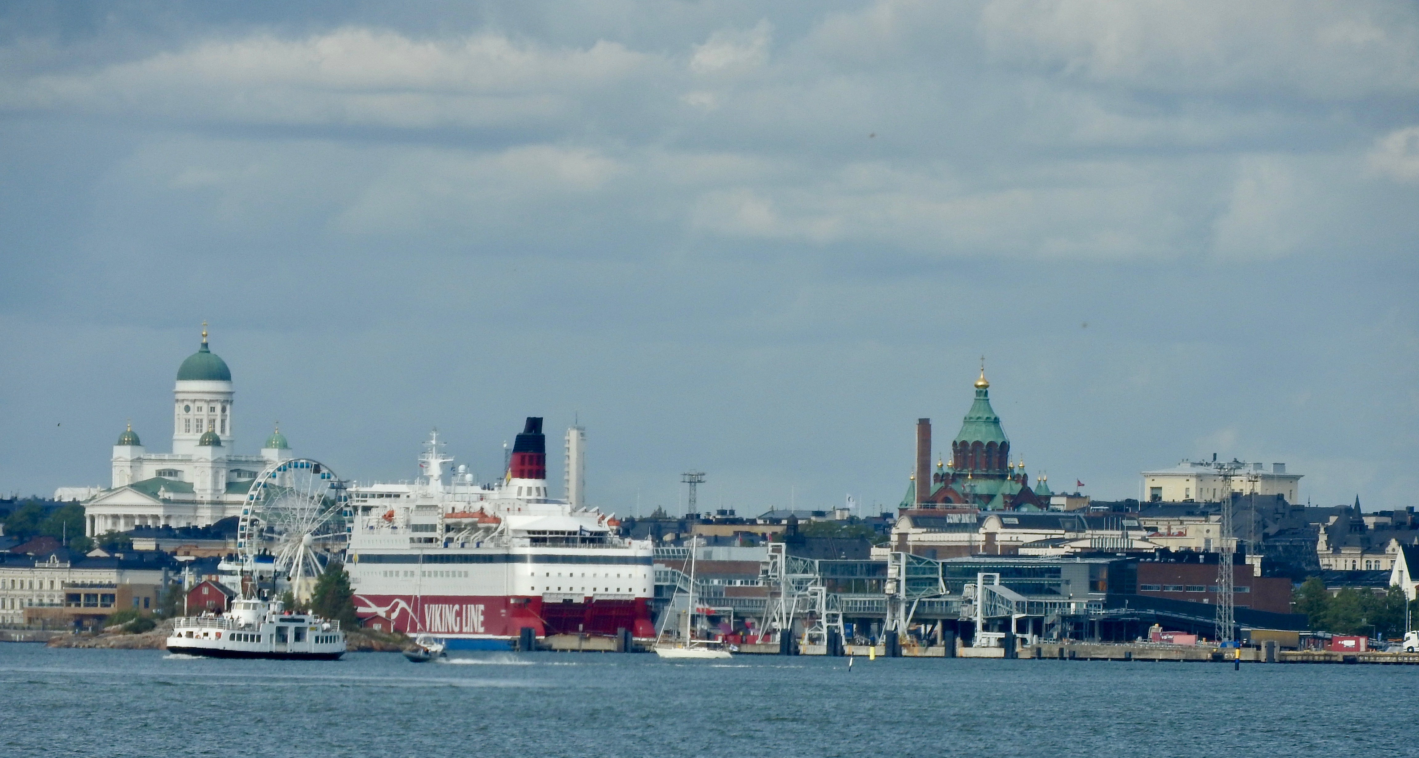View of Helsinki from Baltic Sea