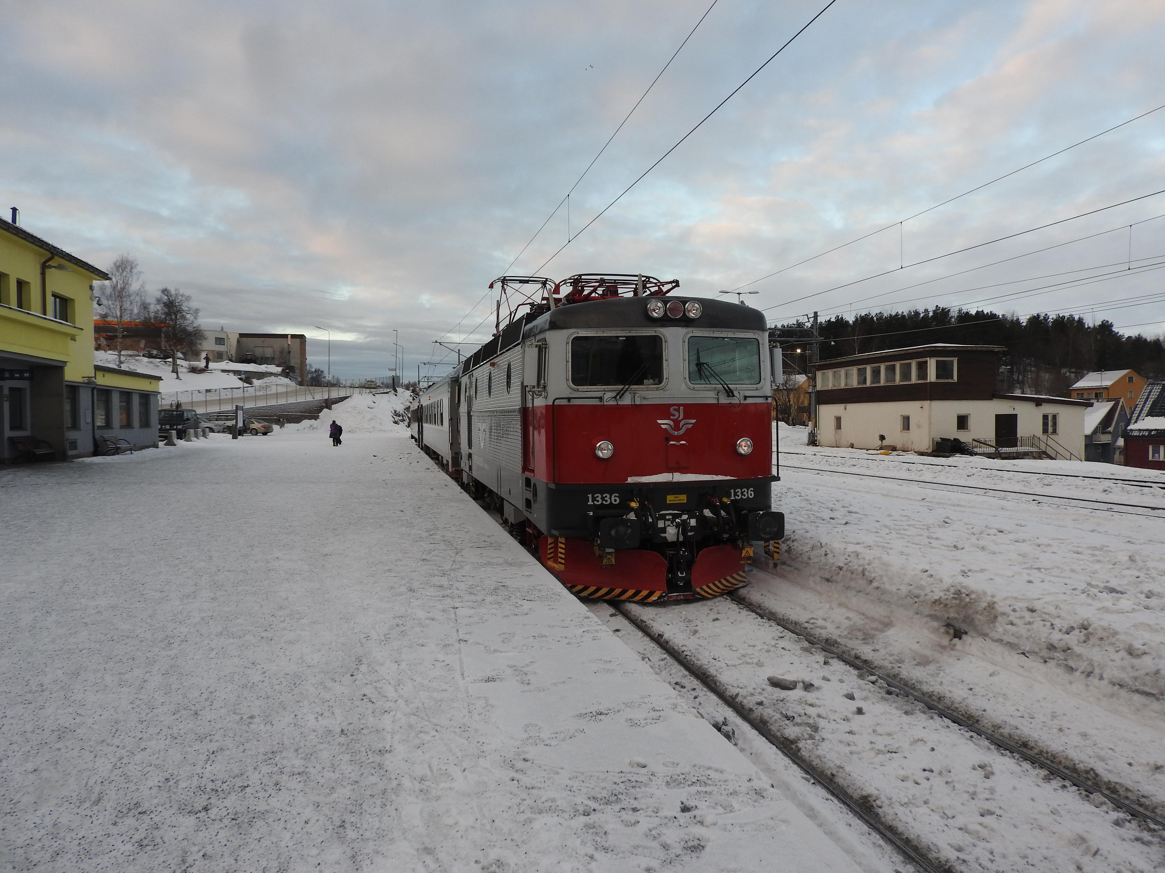 Train at Narvik Station, Norway