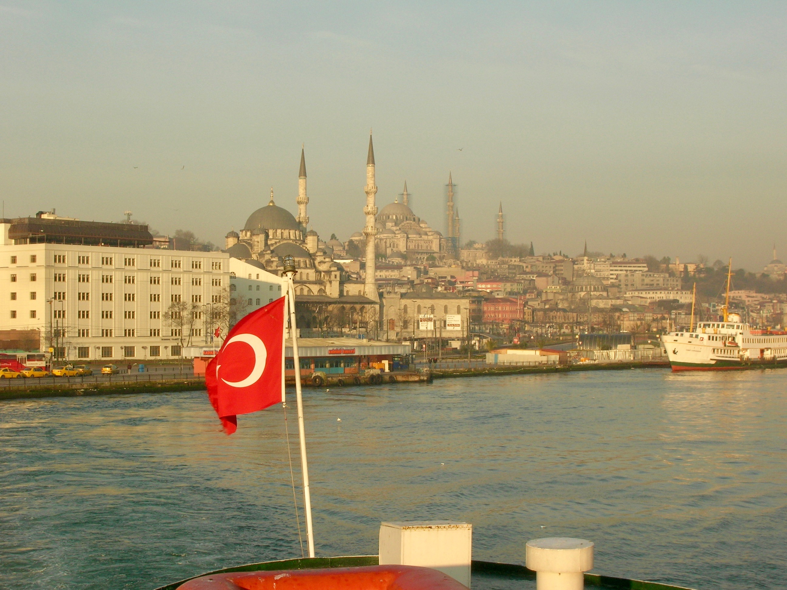 View of Istanbul from the Bosphorus Ferry