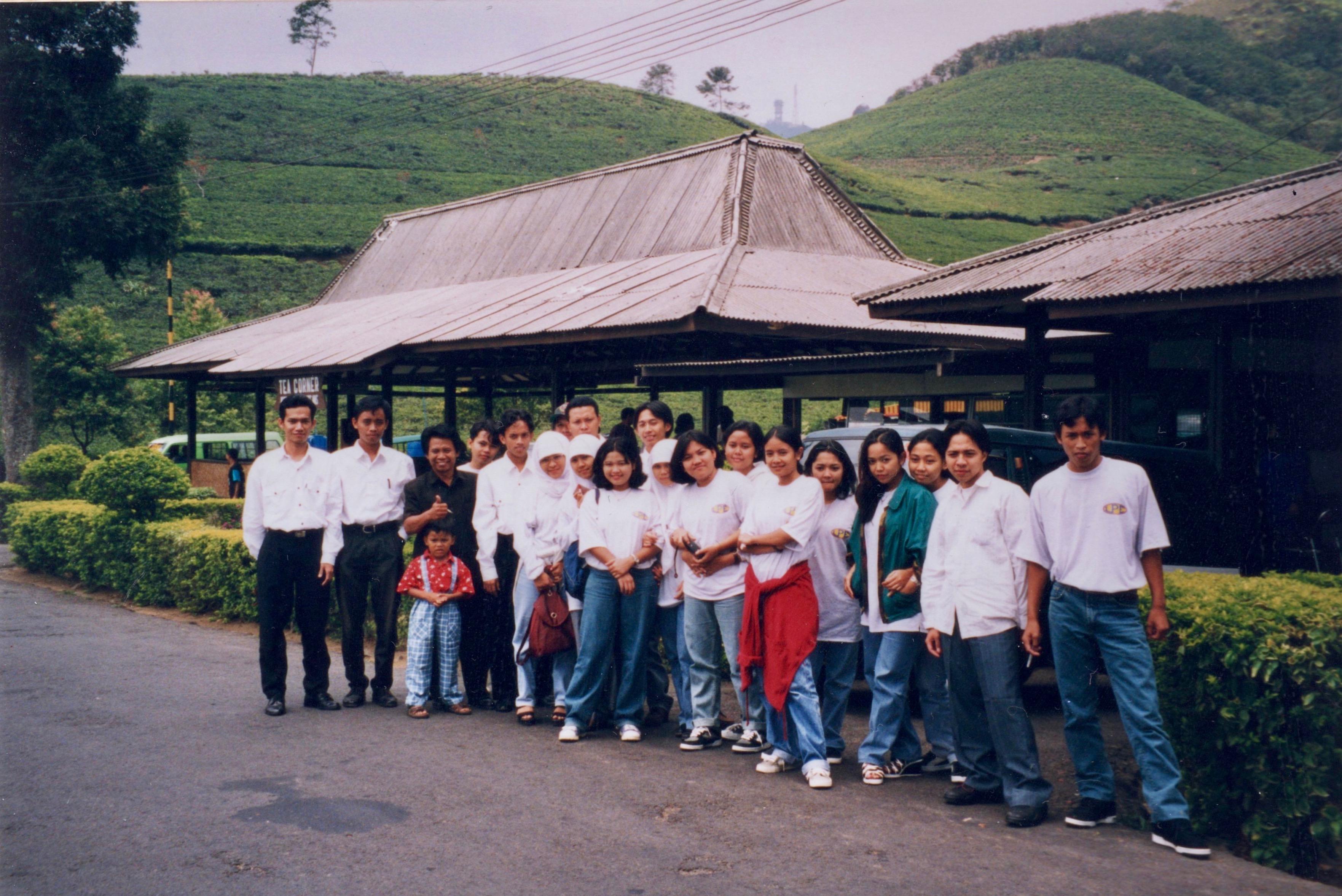 School Group, Guning Mas Tea Plantation, Java, Indonesia